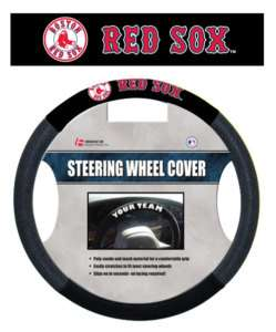 BOSTON RED SOX MESH SUEDE CAR AUTO STEERING WHEEL COVER