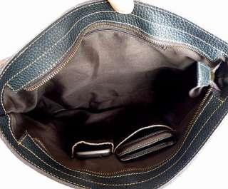 Genuine Leather Men Black Briefcases Messenger Bag New