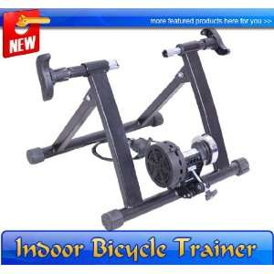 New Black Magnetic Bicycle Bike Trainer Stand Indoor