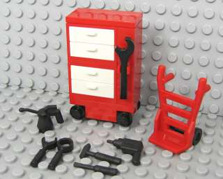 NEW Lego Minifig Car/Truck/Vehicle TOOL BOX w/Wrench Screwdriver Drill