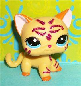 Littlest Pet Shop~#2118 PINK SPARKLE TIGER KITTY CAT~RARE LPS P177 New