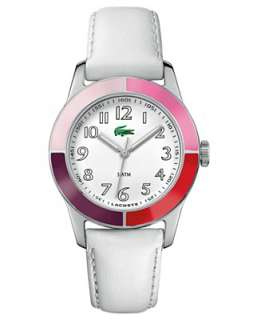 Lacoste Womens Watch, White Leather Strap 2000458   Lacoste Brands