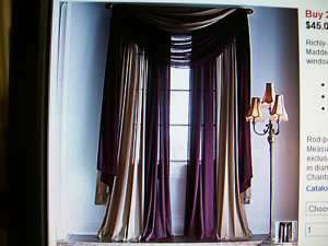 Chris Madden CHANTAL Curtain or Scarf or Valance Mix it