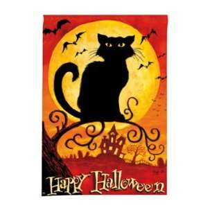 Black Cat Halloween Double Sided Standard House Flag