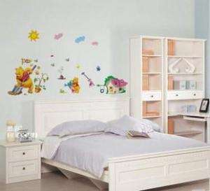 WINNIE THE POOH Deco decal Wall Paper Sticker KID happy