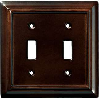 Wood Architectural Double Switch Wall Plate, Espresso Electrical
