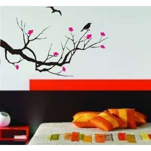 Cherry Blossom Tree w/ Birds Decal Sticker Wall Beautiful