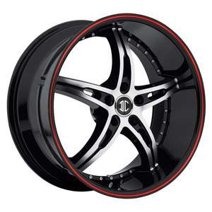 20 2Crave #14 BLACK Machine Red line Wheels&TIRES Staggered fitment
