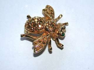 for a Beautiful Retired JOAN RIVERS Swarovski Crystal Bee Pin/Brooch