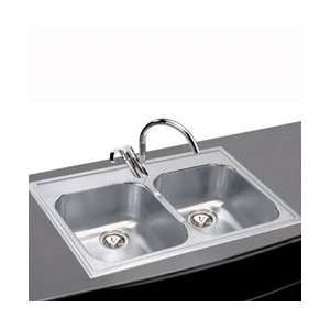 Elkay Elumina Self Rimming Stainless Steel Double Sink with Four Holes