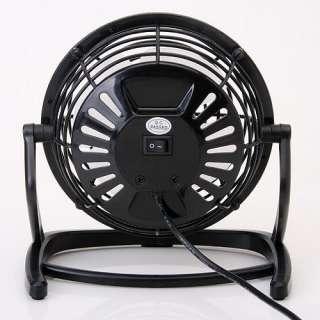 Black Quiet Portable USB Desk Fan Cooler for Laptop PC