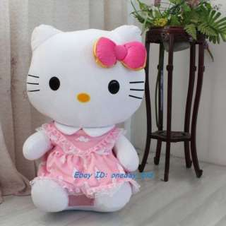 Sanrio Cute Hello Kitty Plush Doll Toy Pink Dress 18H