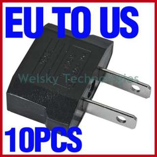 10x EU Euro to US Power Travel Plug Converter Adapter Adaptor Charger