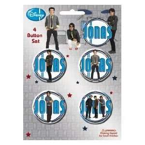 Jonas Brothers Official Disney Button Set Kevin, Joe, and Nick Jonas