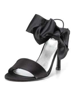 Stuart Weitzman Sandals   Big Bow Satin   Salon Shoes   Designer Shops
