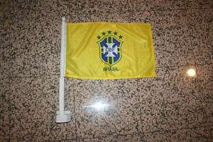 BRASIL FIFA WORLD CUP SOCCER FOOTBALL CAR FLAG BRAZIL
