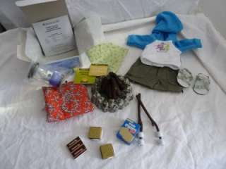 American Girl Retired Camp Lot   Smores, Outfit, Fire   3 sets!