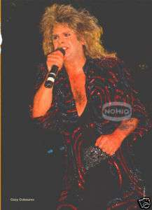 vtg OZZY OSBOURNE PINUP hair heavy metal 80s sabbath