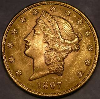 1897 LIBERTY HEAD $20 GOLD DOUBLE EAGLE HIGH QUALITY CHOICE APPEALING