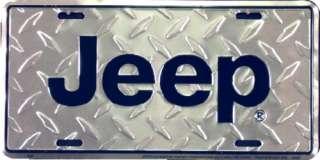 Jeep Diamond Plate Metal License Plate Tag