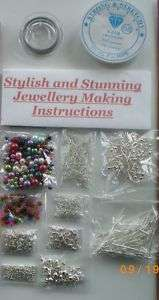 JEWELLERY MAKING KIT, INSTRUCTIONS, FINDINGS, BEADS ETC