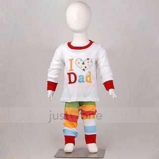 Baby Toddler Children Kids Boy Girls Cute Sleepwear Tops + Pants