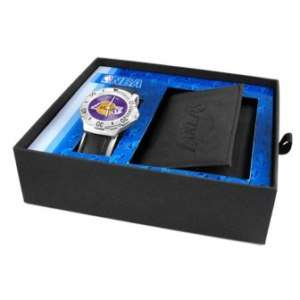 Los Angeles Lakers Game Time Watch/Wallet Gift Combo 846043003949