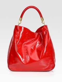 Saint Laurent   YSL Large Patent Leather Roady Hobo