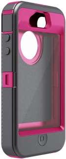 OTTERBOX PINK DEFENDER HYBRID CASE & BELT CLIP HOLSTER FOR IPHONE 4