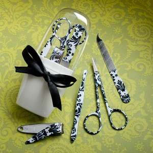 48 Pretty Damask Personal Grooming Manicure Set Wedding/Bridal Shower