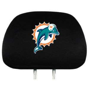 New NFL Miami Dolphins Logo Auto Seat HeadRest Covers