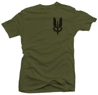 SAS Crest UK Special Air Service Ops Military T shirt