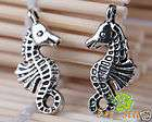 100 Pcs Tibetan silver bali style small sea horse charms Pendants 23