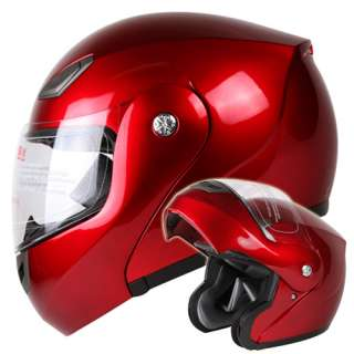 WINE RED MODULAR FLIP UP MOTORCYCLE HELMET DOT Size Small