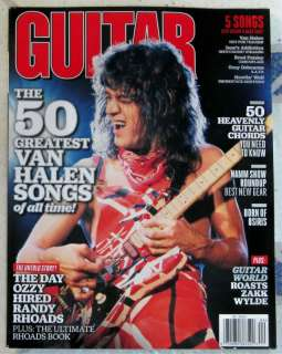 2012 VAN HALEN 50 Greatest Songs DAY OZZY Hired RANDY RHOADS
