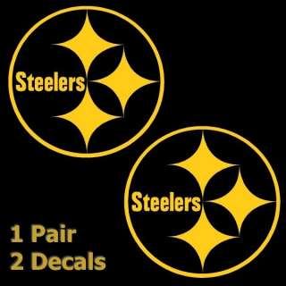 Gold Pittsburgh Steelers Logo 3 Decal Window Sticker