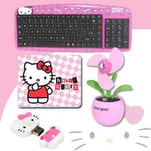 Hello Kitty USB Keyboard with Hot Keys #90309K (Pink