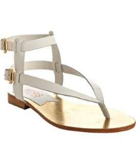 KORS Michael Kors white patent leather Scorpion gladiator sandals