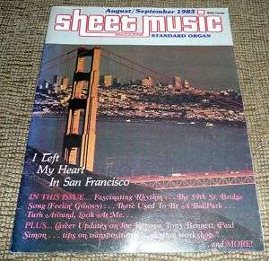 Sheet Music Magazine Aug / Sept 1983 Standard Organ