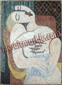 PICASSO DREAM MARBLE MOSAIC STONE ART TILE MURAL DECOR