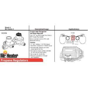 Mr. Heater F273766 Propane Auto Changeover Two Stage Regulator