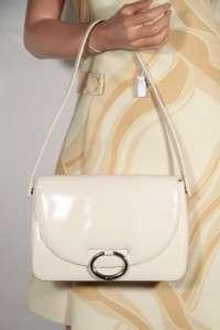 PRADA MILANO Italian White Leather SHOULDER BAG Tote Handbag PURSE