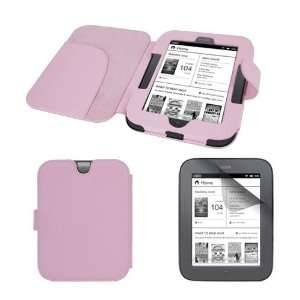 Premium Pink Leather Case Cover + cLear Crystal Screen Protector for