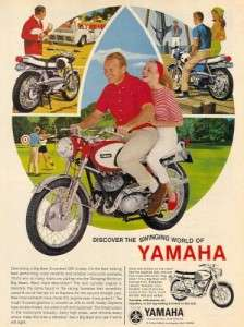 1966 Yamaha Big Bear Scrambler Motorcycle Original Color Ad