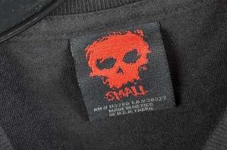 ZERO Spellbound Skull Black Skate T Shirt Small
