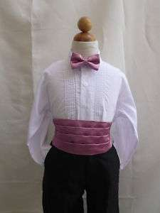 DUSTY ROSE CUMMERBUND BOW TIE SET FOR BOY TUXEDO SUIT