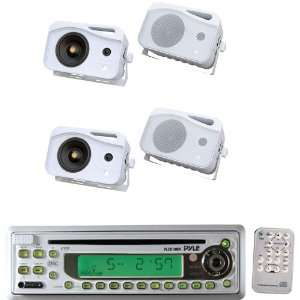 Pyle Marine Radio Receiver and Speaker Package   PLCD10MR AM/FM MPX In