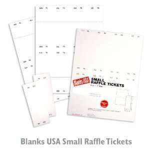 Raffle Tickets   Small White Paper   1250/Carton Office