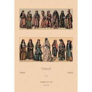 Vintage Art Traditional Turkish Women   Giclee Fine Art
