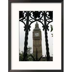 General View of the Big Ben Clock Tower Collections Framed